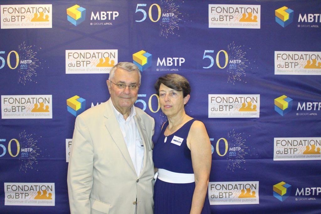 Michel THOMAS, Président de MBTP et Annie PINAULT, Directeur de MBTP