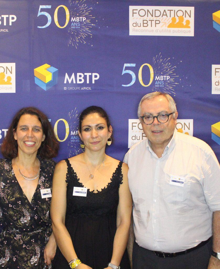 Sigolène MIRE (MBTP)- Noellia BATISTA (MBTP) - Patrick CELMA Président de l'UPEMO