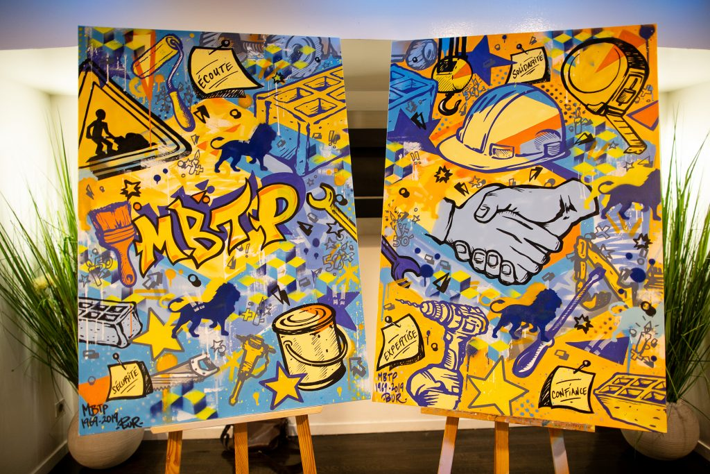 Toiles live painting BUR ARTIST