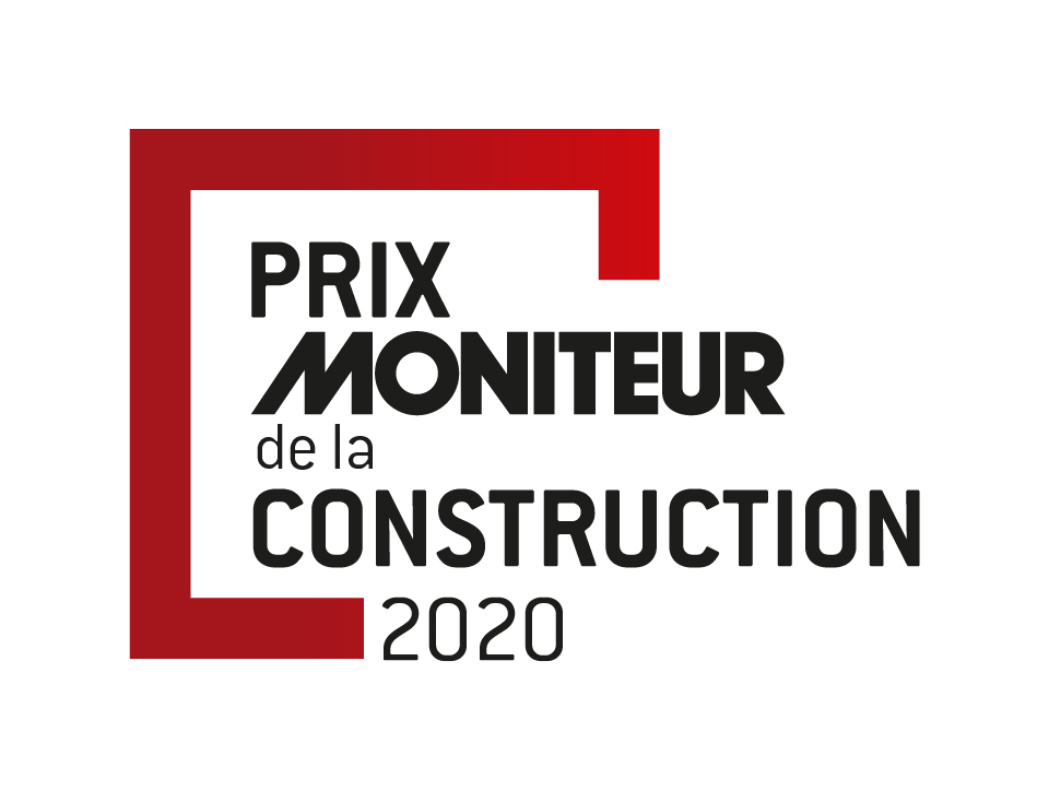 Logo du Moniteur de la construction 2020 dans le cadre de la prévention et de nos engagements dans le BTP