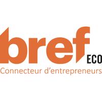Logo du média Bref eco connecteur d'entrepreneurs en toutes lettres et de couleur orange