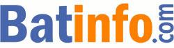 Logo du média Batinfo.com - Les mots Batinfo en toutes lettres et couleurs orange et bleu