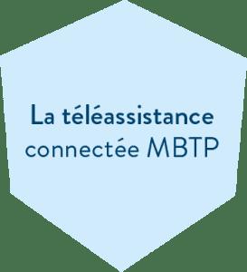 Hexagone bleu en header de l'offre La téléassistance connectée de la MBTP