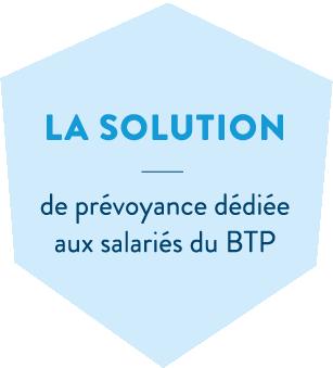 Hexagone bleu en header de l'offre prévoyance salariés de la MBTP