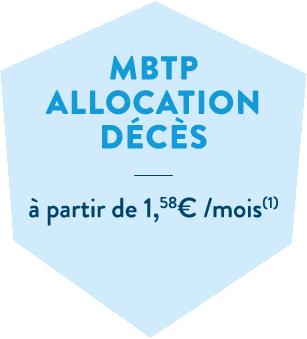 Hexagone bleu en header de l'offre prévoyance décès de la MBTP